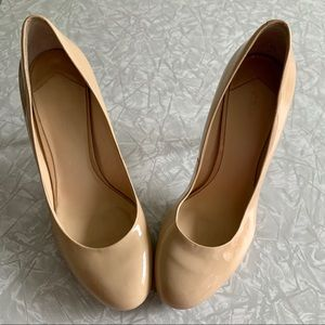 😍 Stella Luna Nude Leather Platforms 😍 Size 38